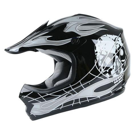 skull motocross helmet youth kids atv motocross dirt bike black skull helmet w