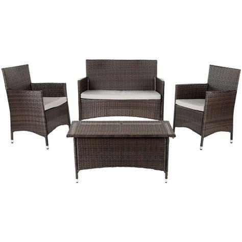 safavieh mojavi 4 wicker patio seating set with