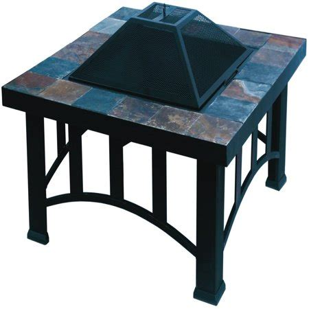 living accents pit living accents srfp87 pit table 36 quot brown walmart