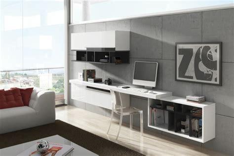 bureau de salon aménagement de bureau moderne dans un salon design