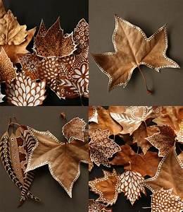Blätter Basteln Herbst : bl tter anmalen so basteln wir im herbst herbst ~ Lizthompson.info Haus und Dekorationen
