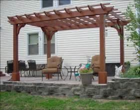 Menards Patio Furniture Backyard Creations by Red Cedar Vintage Classic Pergolas Pergolas By Material