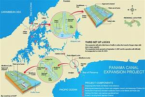 Map Of The Panama Canal Expansion Project