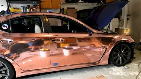 Rose Gold Chrome! How To Wrap A Door On Lexus Isf
