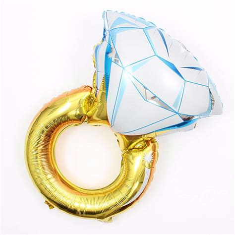 bachelorette decorations mylar engagement ring balloon stag hen