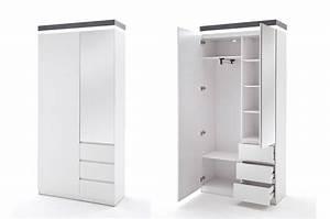 Vestiaire D Entrée Ikea : ensemble de meubles d 39 entr e blanc et gris cbc meubles ~ Teatrodelosmanantiales.com Idées de Décoration