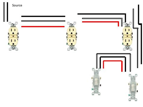 Receptacles Split Controlled Way Switches