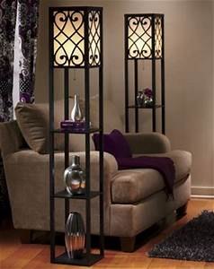 Eurico floor lamp with shelves from seventh avenue dw707014 for Eurico floor lamp with shelves