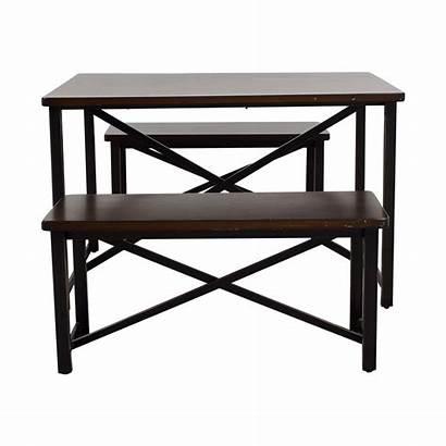 Ashley Dining Furniture Metal Wood Bench Sets