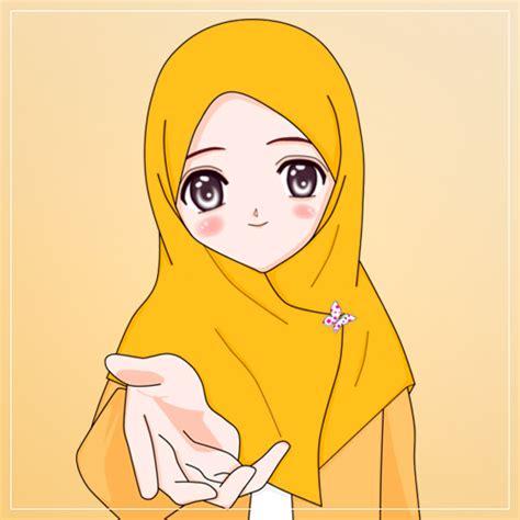 buah hati gambar kartun muslimah