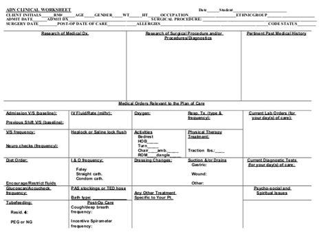 kardex form  patient assignments