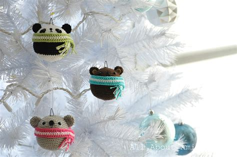pattern teddy ornaments all about ami