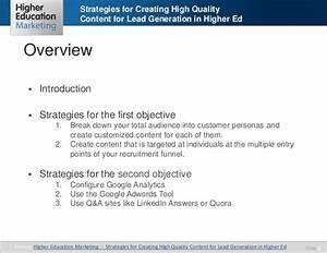 Strategies for creating high quality content for lead ...