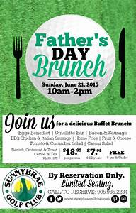 Father's Day Brunch at Sunnybrae Golf Club