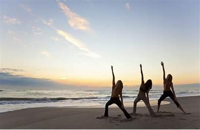 Yoga Sunrise Beach Poses Summer