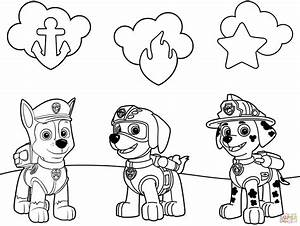 Paw Patrol Badges Coloring Page Free Printable Coloring