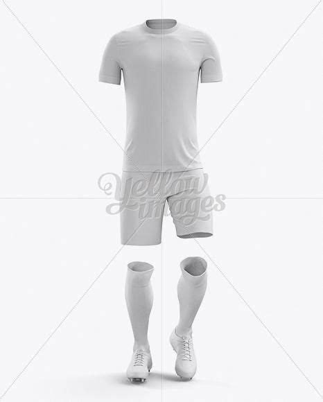 Envelope and papers with bust mockup front view. Men's Full Soccer Kit Mockup - Front View # ...