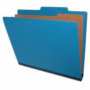 blue top tab pressboard folders letter size 1 divider With classification folders 1 divider letter size