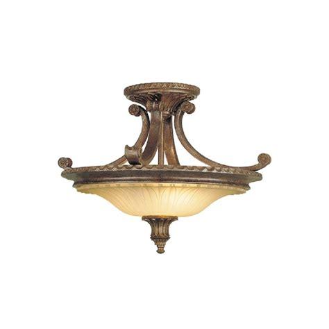 traditional bronze semi flush uplighter ceiling light for