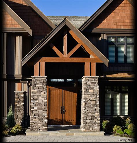 cultured black rundle country ledgestone columns