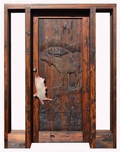 Log Cabin Doors Hand Carved Moose Doors Custom Lodge