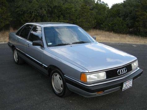 how make cars 1986 audi 5000s engine control 1986 audi 5000 cs turbo bring a trailer