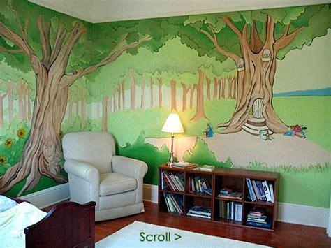 Kinderzimmer Wandgestaltung Wald by Enchanted Forest Mural