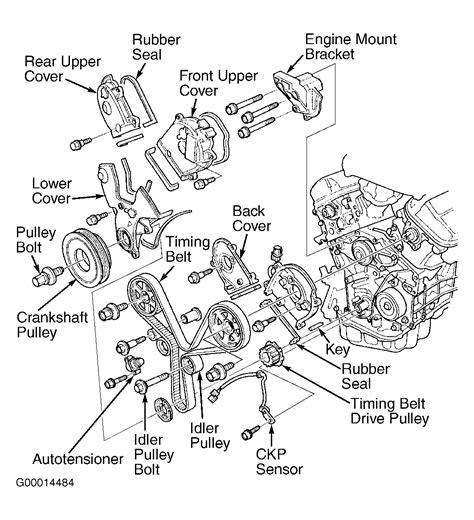 2005 Acura Tl Timing Belt by 2005 Acura Tl Serpentine Belt Routing And Timing Belt Diagrams