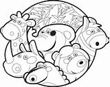 Zoo Coloring Pages Printable Animals Craft sketch template