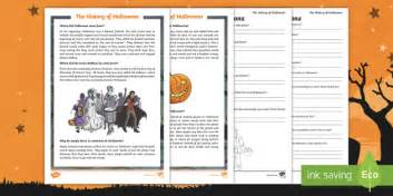 The History Of Halloween Differentiated Reading Comprehension