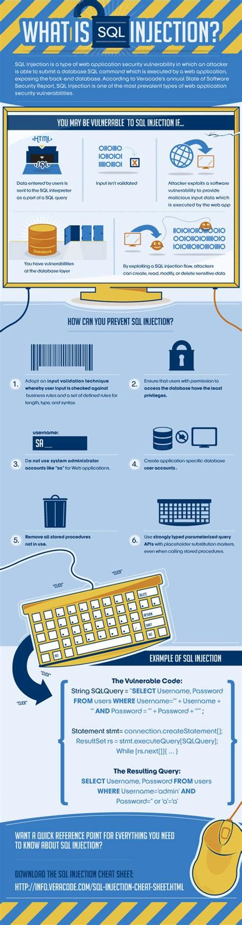 what is sql injection infographic