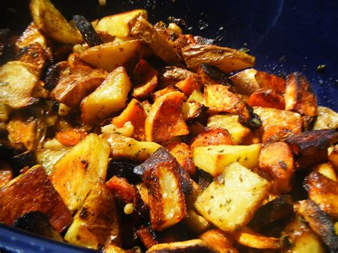 Garlic Escapes Ovenroasted Root Vegetables And Garlic