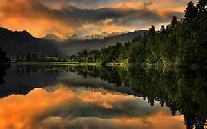 Wallpaper, Sunlight, Trees, Landscape, Forest, Mountains