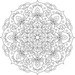 Flower Mandala Coloring Pages Printable