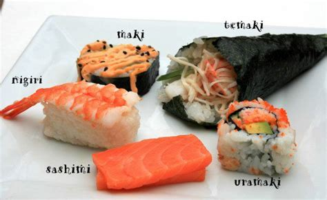 The Different Kinds Of Sushi