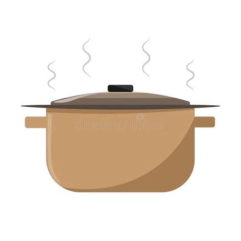 dessin casserole cuisine casserole de dessin de vecteur avec la soupe chaude