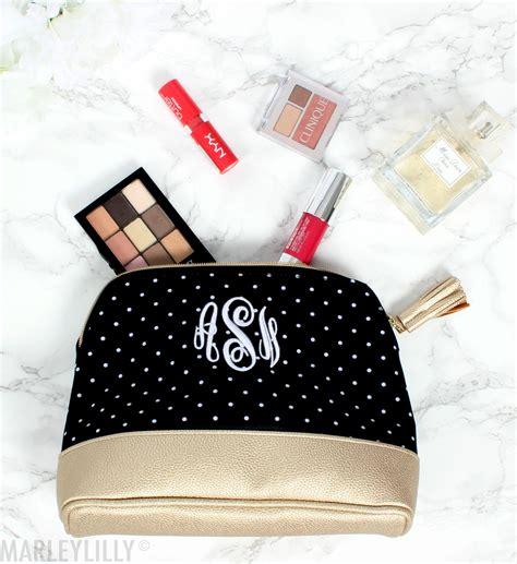 monogrammed makeup bags  essential monogrammed makeup bags monogram cosmetic bag