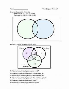 Venn Diagrams And Data Sets Worksheet For 9th