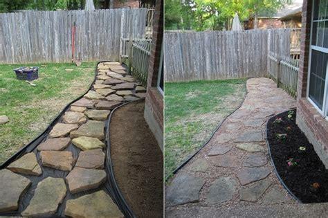 diy project backyard walkway home design garden