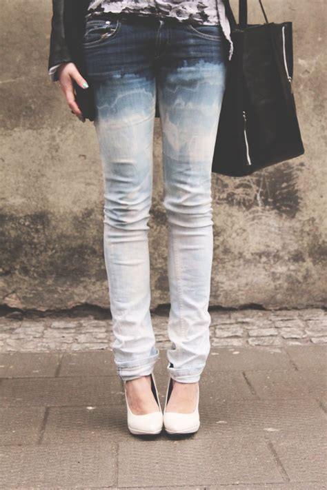 Dip Dyed Ombre Jeans D I Y Dye Jeans Denim Outfit