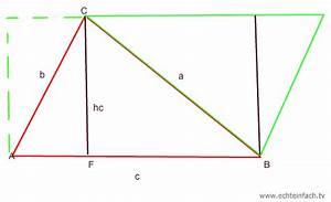 Flächeninhalt Berechnen Parallelogramm : fl cheninhalt eines dreiecks berechnen erkl rung mit ~ Themetempest.com Abrechnung