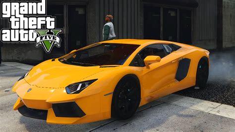 Gta V Lamborghini Aventador Lp7004 Mod Youtube