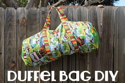 tutorial sew  duffel bag sewing