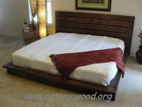 Custom King Rustic Platform Bed By Artisan Wood