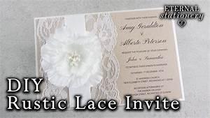 how to make a rustic wedding invitation diy invitations With cricut wedding invitations youtube