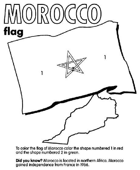 Vlag Marokko Kleurplaat by Morocco Coloring Page Geography Morocco Flag Coloring