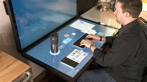 le bureau tactile a quoi pourrait ressembler votre bureau de travail dans le
