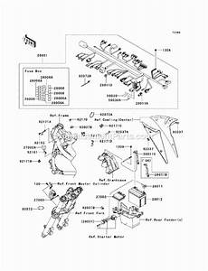 Kawasaki Ex650-a8f Parts List And Diagram
