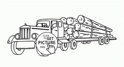 Coloring Semi Pages Truck Trucks Transportation Printables
