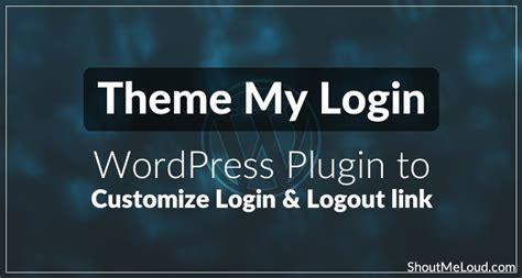 theme  login wordpress plugin  customize login